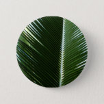 Overlapping Palm Fronds Tropical Green Abstract Button