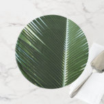 Overlapping Palm Fronds Tropical Green Abstract Cake Stand