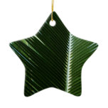 Overlapping Palm Fronds Tropical Green Abstract Ceramic Ornament