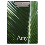Overlapping Palm Fronds Tropical Green Abstract Clipboard