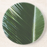 Overlapping Palm Fronds Tropical Green Abstract Coaster