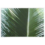 Overlapping Palm Fronds Tropical Green Abstract Doormat