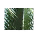 Overlapping Palm Fronds Tropical Green Abstract Fleece Blanket