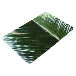 Overlapping Palm Fronds Tropical Green Abstract Floor Mat
