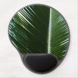 Overlapping Palm Fronds Tropical Green Abstract Gel Mouse Pad