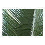 Overlapping Palm Fronds Tropical Green Abstract Hand Towel
