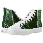 Overlapping Palm Fronds Tropical Green Abstract High-Top Sneakers