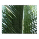 Overlapping Palm Fronds Tropical Green Abstract Jigsaw Puzzle