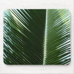 Overlapping Palm Fronds Tropical Green Abstract Mouse Pad