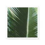 Overlapping Palm Fronds Tropical Green Abstract Napkin