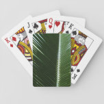 Overlapping Palm Fronds Tropical Green Abstract Playing Cards