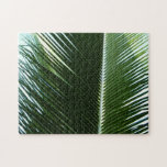 Overlapping Palm Fronds Tropical Green Abstract Puzzle