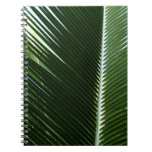 Overlapping Palm Fronds Tropical Green Abstract Spiral Notebook