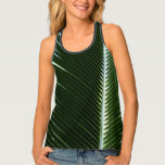 Overlapping Palm Fronds Tropical Green Abstract Tank Top