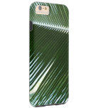 Overlapping Palm Fronds Tropical Green Abstract Tough iPhone 6 Plus Case
