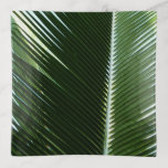 Overlapping Palm Fronds Tropical Green Abstract Trinket Trays