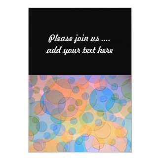 Overlapping Pastel Circles Modern Design Card