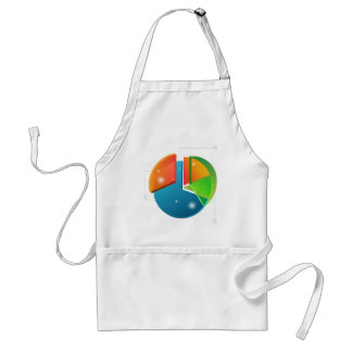 Overlapping Pie Chart Financial Business Profit Adult Apron