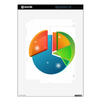 Overlapping Pie Chart Financial Business Profit Skin For The iPad 2