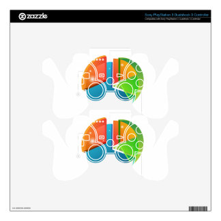 Overlapping Pie Chart Financial Business Profit Skins For PS3 Controllers