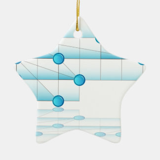 Overlapping Process Chart Ceramic Ornament