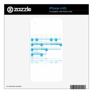 Overlapping Process Chart iPhone 4S Skin