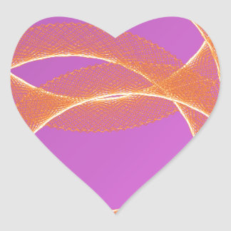overlapping ring of sun in purple background heart sticker