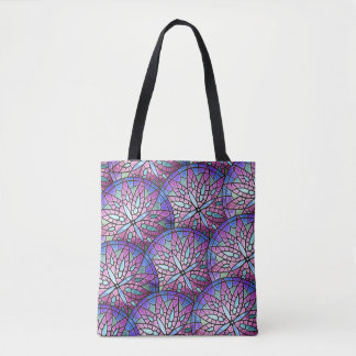Overlapping Rose Window All-Over-Print Tote Bag