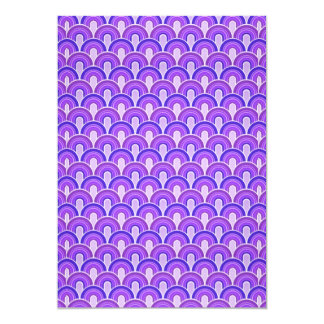 Overlapping Semicircles Shades of PURPLE Card