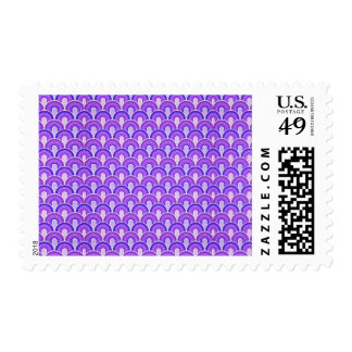 Overlapping Semicircles Shades of PURPLE Postage