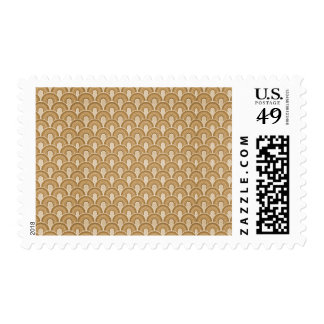 Overlapping Semicircles Shades of TAN Postage