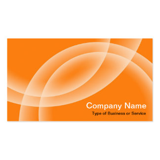 Overlapping Spheres - Orange Business Card Templates