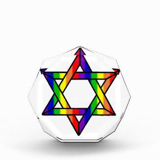 Overlapping Star of David Rainbow Zazzle.png Award