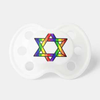 Overlapping Star of David Rainbow Zazzle.png Pacifier