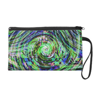 Overlapping Winds Wristlet Clutch