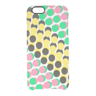 Overlayed Dots Clear iPhone 6/6S Case