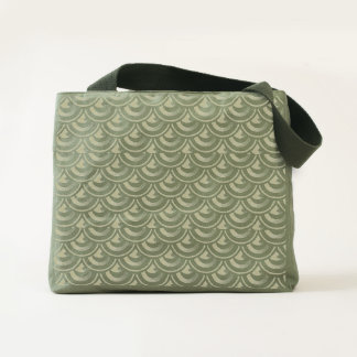 Overlays Art Deco Spiked Dragon Skin Fish Scales Tote