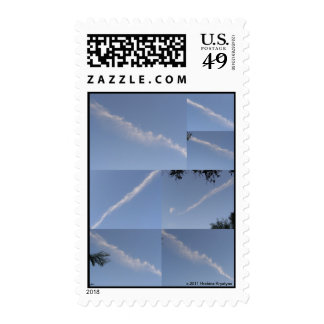 OVERLLAPPING SKY POSTAGE STAMP