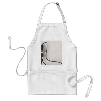 Overloaded ac power wall socket adult apron