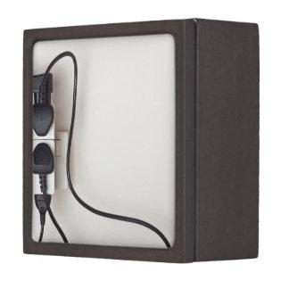 Overloaded ac power wall socket gift box
