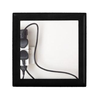 Overloaded ac power wall socket keepsake box
