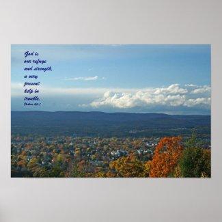 Overlook, God is our refuge poster print