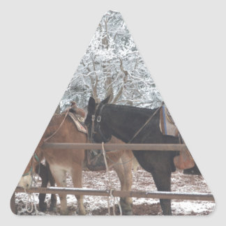 Overlook Grand Canyon National Park Mule Ride Triangle Sticker