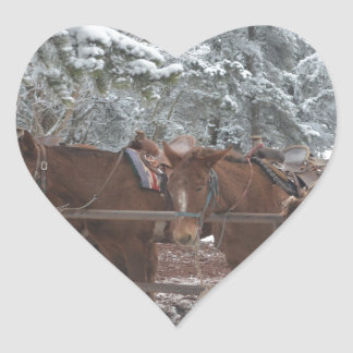 Overlook Grand Canyon National Park Mule Ride Heart Sticker