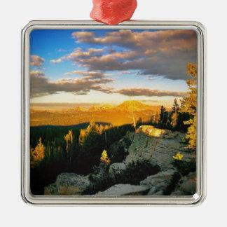 Overlook landscape, Mountain scene Metal Ornament