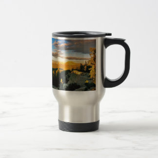 Overlook landscape, Mountain scene Travel Mug