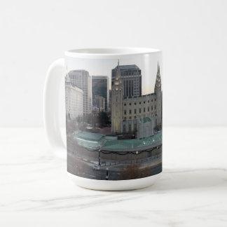 Overlook of Temple Square in Salt Lake City, Utah Coffee Mug