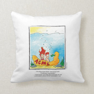 OVERLOOKED cartoon by Ellen Elliott Throw Pillow