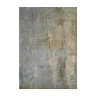 'Overlooked' Neutral Abstract Art Canvas Print