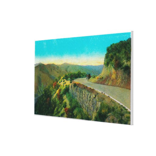Overlooking Castaic CreekRidge Route, CA Canvas Print